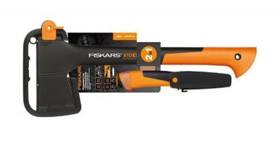 Набор Fiskars топор-колун Х10(1015619) + универсальный нож Fiskars (1023618) 1057914, фото 1