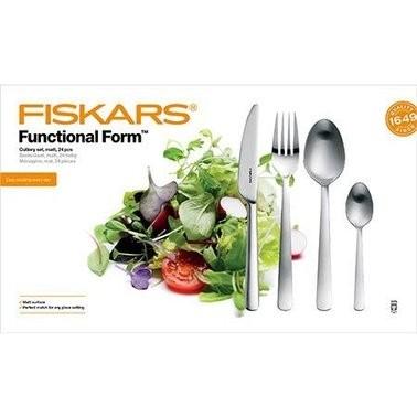 Набор столовых приборов Fiskars 24 прибора Глянец (1002949), фото 1
