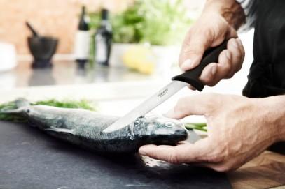 Кухонный нож Fiskars Essential для хлеба 23 см Black 1023774, фото 3