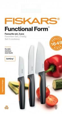 Набор кухонных ножей Fiskars Functional Form ™ Favorite 3 шт 1057556, фото 1