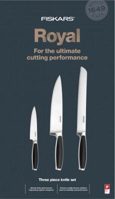 Набор кухонных ножей Fiskars Royal 3шт 1016464, фото 1