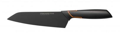 Кухонный нож Fiskars Santoku Edge поварской азиатский 17 см Black 1003097, фото 1