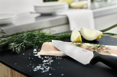 Профессиональный нож Fiskars Essential поварской 21 см Black 1023775, фото 2