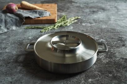 Сковорода с крышкойcFiskars Norden Steel 26 см 1026906, фото 5