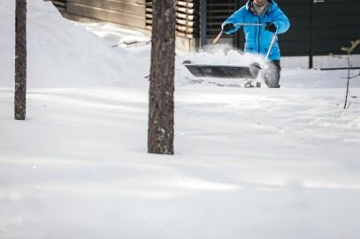 Алюминевая лопата Fiskars для снега и зерна (1001637), фото 3