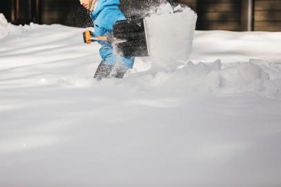 Алюминевая лопата Fiskars для снега и зерна 1001637, фото 2