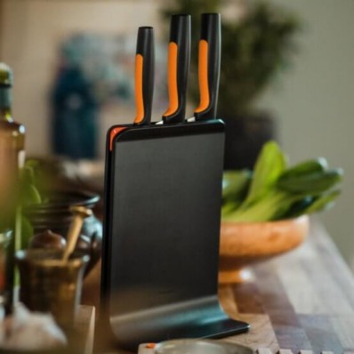 Набор кухонных ножей с пластиковым блоком Fiskars Functional Form ™ 3 шт 1057555, фото 4