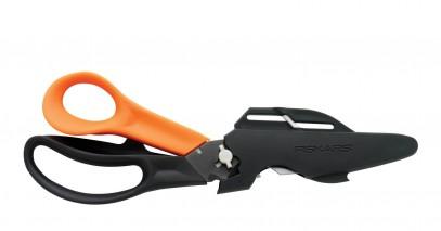 Многофункциональные ножницы Fiskars Cuts+More лезвия с титановым покрытием 23 см 1000809, фото 6