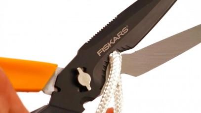 Многофункциональные ножницы Fiskars Cuts+More лезвия с титановым покрытием 23 см 1000809, фото 14